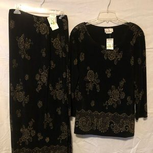 Ladies 2 pc skirt set by: the travel collection